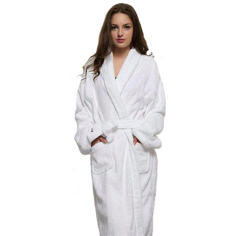 casual and white robes white cotton twist