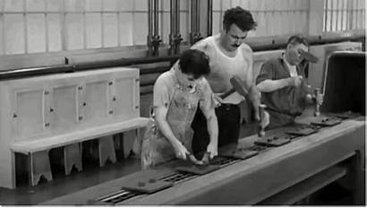 Assembly Line Chaplin Charlie Modern Times Factory