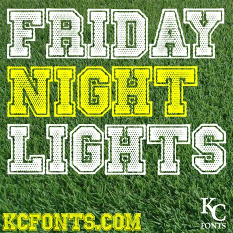 Friday Night Lights Font 1001 Free Fonts