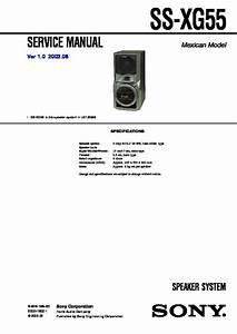 Sony Ss-xg55 Service Manual