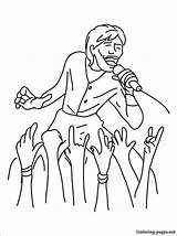 Coloring Colorare Colorir Singer Colorear Cantante Kleurplaten Dibujo Cantor Zanger Desenhos Kolorowanka Piosenkarz Gratis Coloriage Desenho Imprimer Disegni Disegno Kleurplaat sketch template