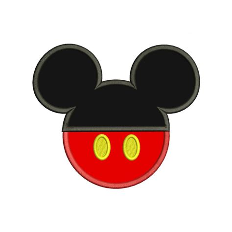 mickey mouse ears applique design