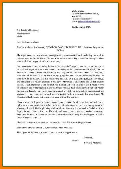 best motivational letter for application 5 exle of