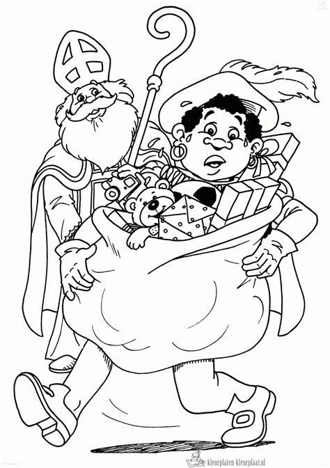 Kleurplaat Sinterklaas Pietje Puk by Kleurplaten Beterschap Kleurplaten Kleurplaat Nl