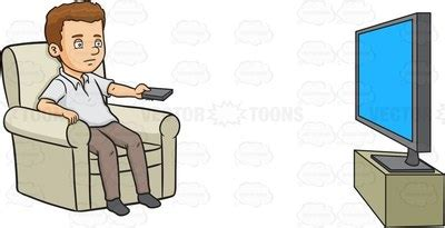 clipart man watching tv clipground