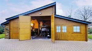 Dachbelag Für Carport : xl holzgarage gro z gige raumaufteilung mit angrenzendem ~ Michelbontemps.com Haus und Dekorationen