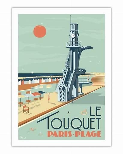 Touquet Le Poster Plage Paris Marcel