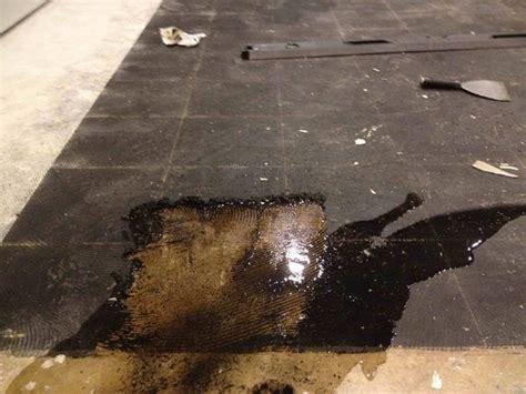 self leveling compound black cutback ceramic tile