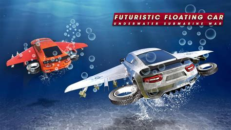 futuristic floating car underwater submarine war for