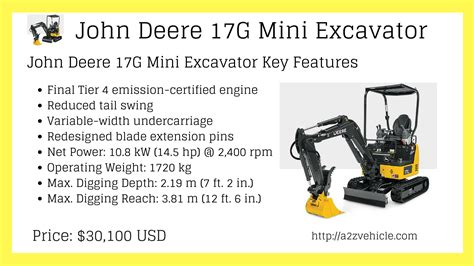 john deere mini excavators price list specs key features images