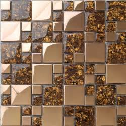 metal kitchen backsplash tiles metal mosaic tile golden kitchen backsplash tile bath wall tile resin 1941 modern mosaic