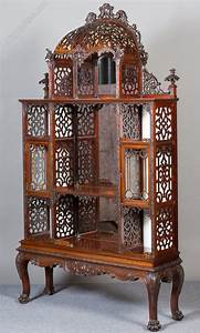 Impressive Chinese Chippendale Style Display Cabinet ...