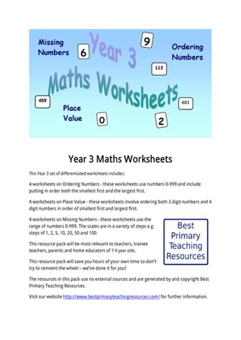 maths worksheets year 3 by bestprimaryteachingresources
