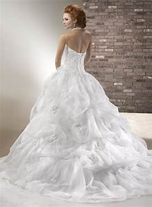 white organza ball gown court train strapless sweetheart With wedding dresses not puffy