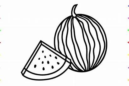 Watermelon Clipart Draw Fruit Drawing Slice Clipartmag