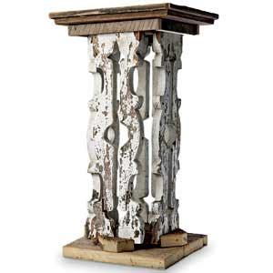 Pedestal Building by Building A Baluster Pedestal Salvage Remodels