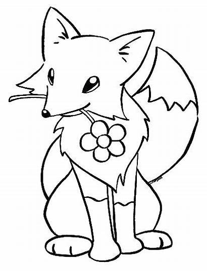Fox Coloring Pages Printable Kit Getcolorings