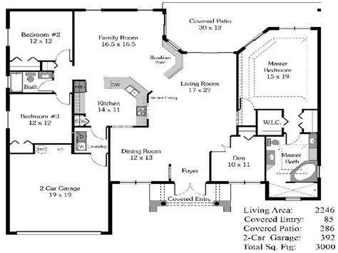 4 Bedroom House Plans Open Floor Plan 4-bedroom Open House