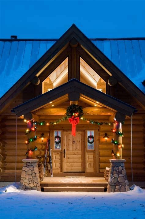 cute log cabin christmas decorations