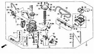 2001 Honda Rancher Carburetor Diagram