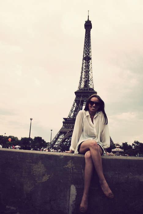 Brunette Eiffel Tower France Girl Paris Image