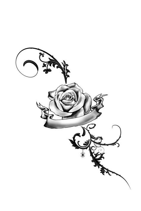 Foot Tattoo Rose by JuliaVonMorque on DeviantArt