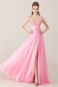 plus size empire waist wedding dress sheer illusion cap sleeve v open back pink chiffon beaded prom dress with slit