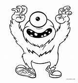 Monster Coloring Pages Printable sketch template
