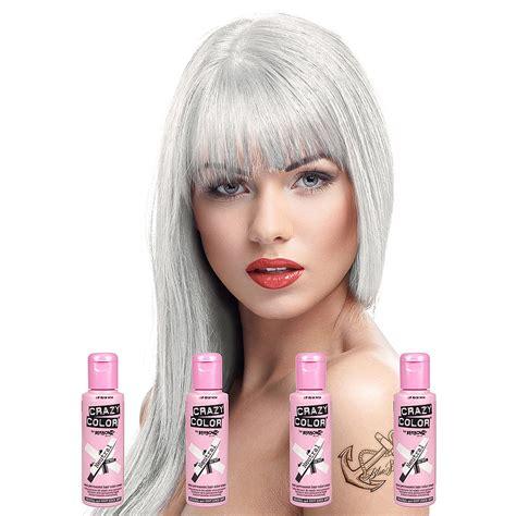 Crazy Color Semi Permanent Neutral Hair Dye 4 Pack 100ml
