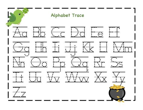 Free Printable Alphabet Letter Tracing Worksheets Kindergartenalphabetworksheetstrace