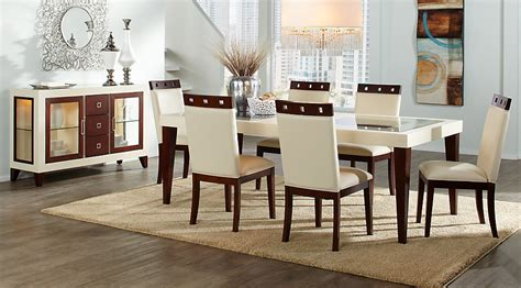dining table and 6 chairs sofia vergara savona ivory 5 pc rectangle dining room