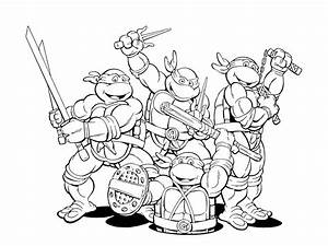 turtle coloring pages - ninja coloring pages