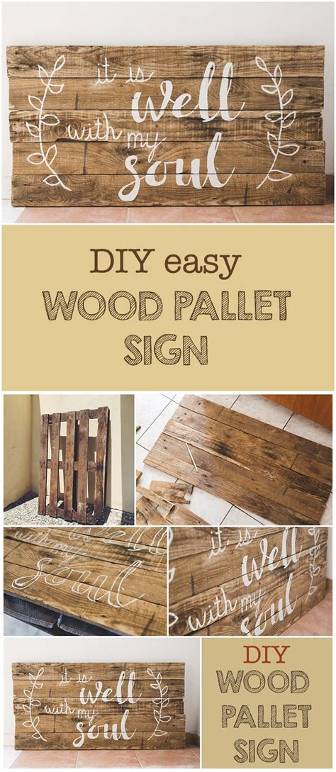 Diy Wood Pallet Sign And Free Printable!  Six Clever Sisters