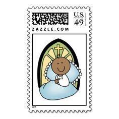 baptism christening postage stamps images