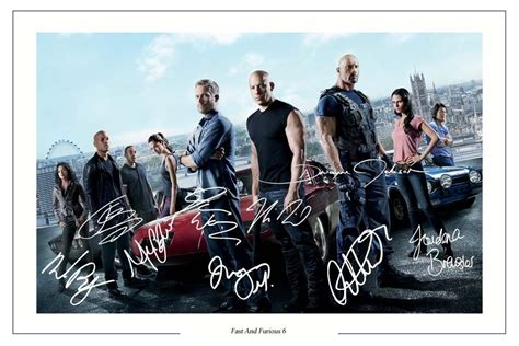 Fast And Furious 6 Cast X 10 Signed Photo Print Autograph