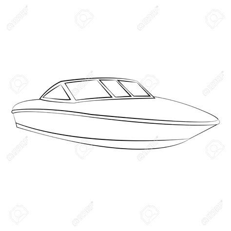 Boat Drawing Outline by Boat Outline Clipart Clipground