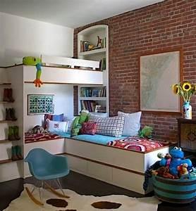Jugendzimmer Platzsparend : hochbett im kinderzimmer 100 coole etagenbetten f r kinder ~ Pilothousefishingboats.com Haus und Dekorationen