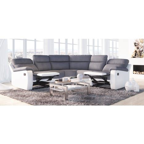 canap auchan canapé d 39 angle relax manuel simili tissu helene pas cher