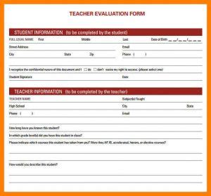 performance evaluation template template business 734   performance evaluation template preschool teacher performance evaluation form 11 300x279
