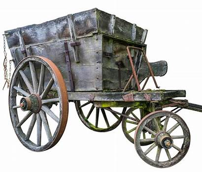 Transport Middle Ages Wood Bauer Oxcart Karren