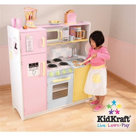 cuisine en bois jouet kidkraft kidkraft pastel play kitchen set 146111 toys at