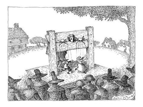 Puritan In The Stocks Gives Naughty Marionette Show—a Male