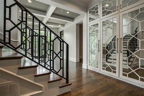antiqued mirrored doors contemporary entrancefoyer