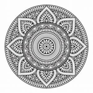 Tapis Rond Mandala : tapis en vinyle rond mandala mexico de home deco linge tapis ~ Teatrodelosmanantiales.com Idées de Décoration
