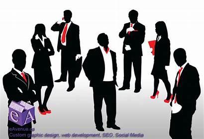 Clip Business Clipart Cliparts Team Person Silhouette