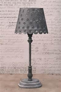 Tischlampe Vintage Shabby : zink lampe tischlampe tischleuchte nachttischlampe antik ~ Watch28wear.com Haus und Dekorationen