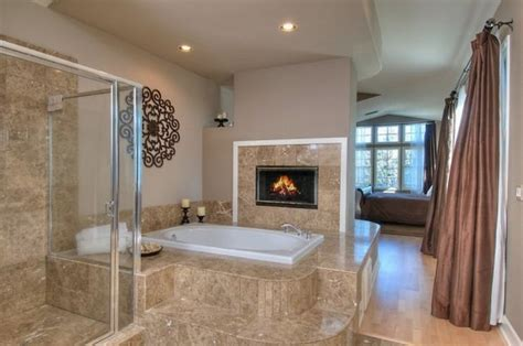 custom bathroom designs trendy custom bathrooms with fireplaces for a