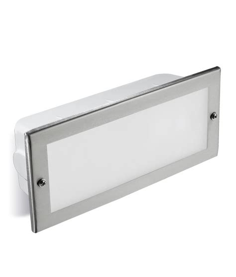 stainless steel recessed brick light ip44