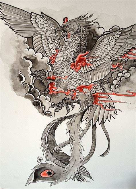 japanese phoenix tattoo japao