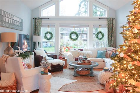 house  turquoise christmas home  feature  happy